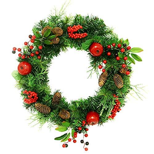 R1vceixowwi - Corona de Navidad (30 cm, 45 cm), color rojo y verde