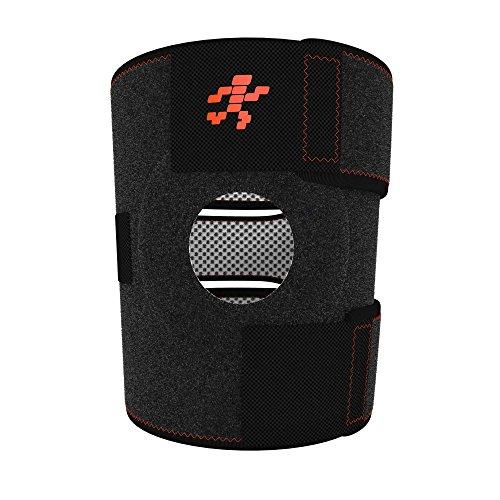Uflex Knee Brace & Support Open Patella, One Size Adjustable, Neoprene Sports...