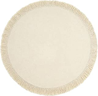 Tapis de Jute Tapis en laine tissé à la main, tapis rond avec glands, tapis de plancher réversible pure Paurs Tapis Tapis ...