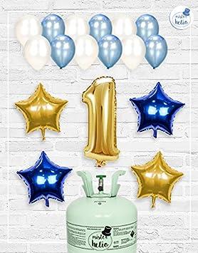 Bombona de Helio Mrhelio+Globos cumpleaños Niño números (Cumple 8 años niño): Amazon.es: Juguetes y juegos