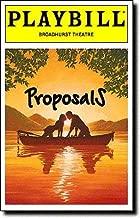 Color Playbill from Proposals starring Kelly Bishop Dick Latessa Katie Finneran L. Scott Caldwell
