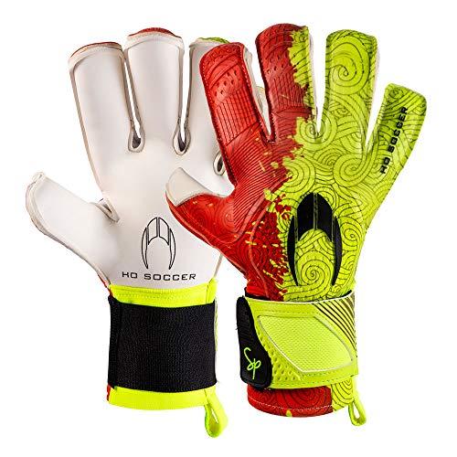 Ho Soccer Supremo Pro Warrior Kontakt (SP) Torwarthandschuhe, Unisex, Erwachsene, Limette / Rot, 8