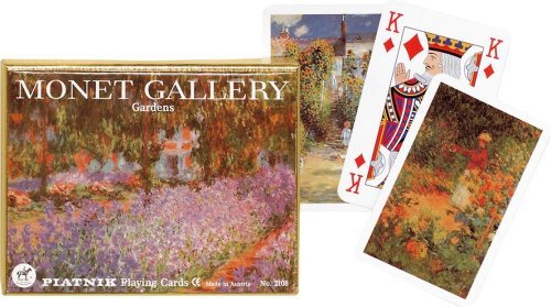 Gibsons Games Piatnik Playing Cards - Monet Gallery - Gardens, double deck