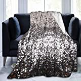 pengyong Throw Blanket Silver Sequins Pattern Ultra-Soft Micro Fleece Bed Blanket for Bed Sofa Couch Living Room Beach Picnic Fall Spring Winter Use Throw Blanket (60'X 50')