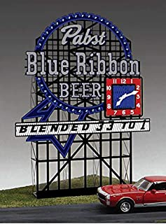 4081 Large Model Pabst Blue Ribbon Beer Animated & Lighted Sign by Miller Signs