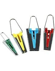 Un ensemble de 4 outils de fabrication de ruban de biais en tissu de taille 6mm / 12mm / 18mm / 25mm