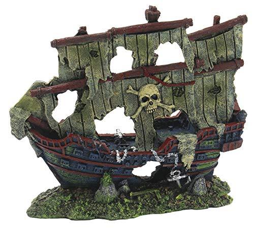 SuperFish SF Schiffswrack M 20x8x17cm Aquarium Dekoration Piraten-Schiff