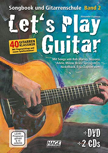Let's Play Guitar Band 2 (mit 2 CDs und DVD): Songbook und Gitarrenschule: Songbook und Gitarrenschule + DVD + 2 CDs. Mit Songs von Bob Marley, ... Springsteen, Nickelback, Jason Mraz uvm.