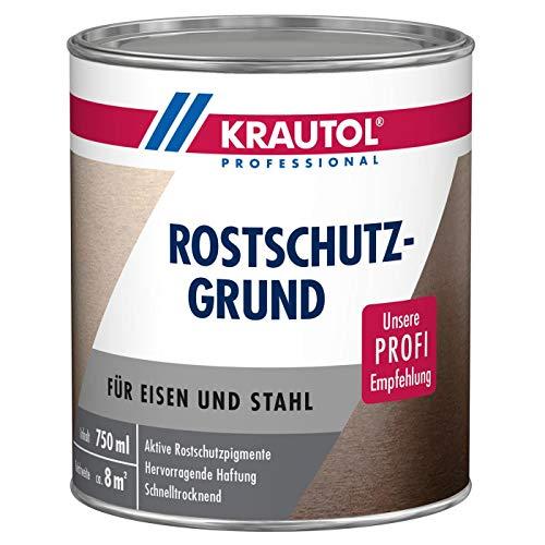 KRAUTOL Rostschutzgrund für Eisen und Stahl, hoher Korrossionsschutz, Grundierung rotbraun, 750 ml