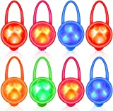 Dog Collar Light, LED Pet Cat Collar Charm Lights for Dogs at Night Time Walking, Safety Harness Leash Necklace Clip on Dog Lights for Large Medium Small Dogs Camping Gear Accessories(8 packs)