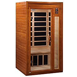 brown wood affordable infrared sauna