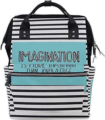 Mummy Backpack Fantasie Is Belangrijke als kennis Grotere capaciteit Baby Mummy Bag rugzak luiertas Papa waterdichte Mummy rugzak Mom Care Print stijlvolle luiertassen