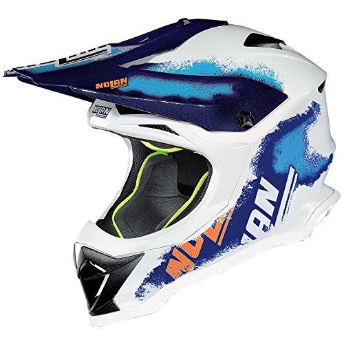 Casco Nolan N53Lazy Boy Cross Motociclo Lexan N COM–Metallo Bianco Taglia L