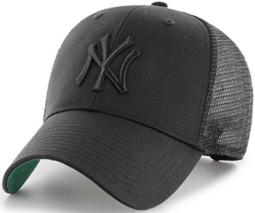 Gorra trucker negra con logo negro de New York Yankees MLB MVP Branson de 47 Brand - Negro, Talla única