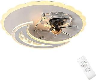 Szlight Ventilador Luz De Techo Lámpara De Ventilador De Techo Para Habitación Infantil Lámpara De Techo Muda Ultrafina Ventilador De Techo Lámpara De Techo Niños Niñas Lámpara De Dormitorio