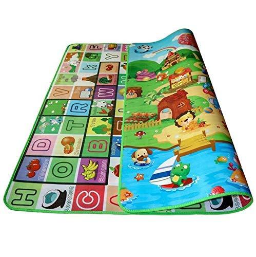 2 X 1.8m Kid Baby Play Mat Floor Activity Happy Farm Rug Child Crawling Carpet LATT LIV