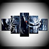5 Panel/Set Lienzos Handart Cuadro En Lienzo Cinco Partes Hd Clásico Óleo Impresiones Decorativas Cartel Arte Pared Pinturas Hogar Lienzo Alien Vs.Predator 2 Requiem