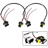 Xotic Tech 9006 HB4 To H13 Conversion Wire Wiring Harness Adapter For Headlight Retrofit or HID Kit - Female to Male Connector