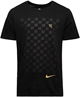 Nike Ronaldinho10 T Repeat Shirt Black Metallic Gold Mens Large