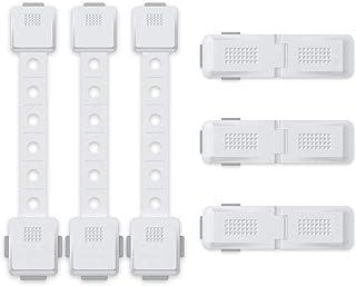 أقفال خزانة آمنة للأطفال من لينير، حزام ذاتي اللصق لحماية الأطفال مع أصابع غير مقسورة، سهل التركيب - 3 أحزمة قابلة للتعديل...