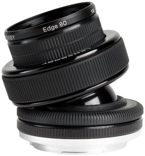 Lensbaby LBCP80C Obiettivo Composer Pro con Edge80 per Canon, Nero