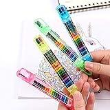 Jsmhh Crayons Ölpastellfarbig Graffiti-Feder for Kinder Malutensilien Student Schreibwaren