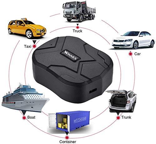 GPS Tracker , 150 Tage Lang Standby GPS Ortung, Wasserdicht Echtzeit tracking GPS Locator, Professional Anti-verloren ,GPS Alarm Car Tracker für Auto lkw Moto Gefrier Boot mit Freier APP