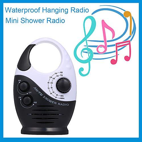 SanyaoDU Resistente al Agua Mini Ducha Radio Radio portátil de Bolsillo Am FM Radio Música Grabadora Digital Altavoz Incorporado para Las flotas de Coches Baño,A