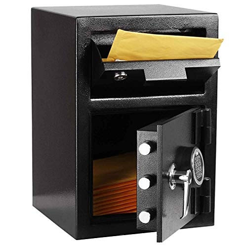 INVIE Drop Safe Depository Vault Mail Cash Drop Box Slot Safe with Digital Keypad Design for Home Office Hotel Jewelry Gun Passport Cash Money