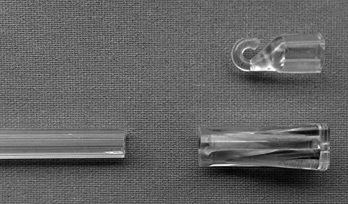 EFIXS Wendestab/Bedienstab für Jalousien, 200 cm lang, transparent, inkl. Haken, Endstück