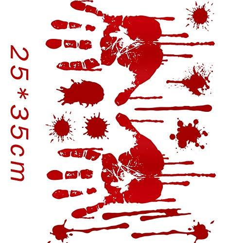 Casinlog - 15 pegatinas para decoración de Halloween con huellas de sangre para centros comerciales, cristales de ventana, fiestas, etc.