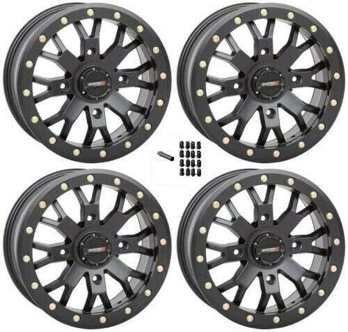 Sale price System 3 Beadlock SB-4 Matte Black 14x7 Wheel 4 4+3 security UTV SXS 156