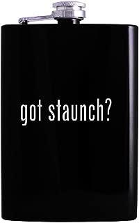 got staunch? - 8oz Hip Alcohol Drinking Flask, Black