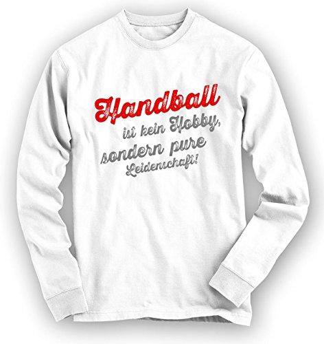 Shirt Happenz Handball Sweatshirt | Handball-Pullover | Hobby | Leidenschaft | Unisex | Sweatshirts, Farbe:Weiß;Größe:XL