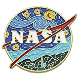 Novelty Starry NASA Logo Enamel Lapel Pin...