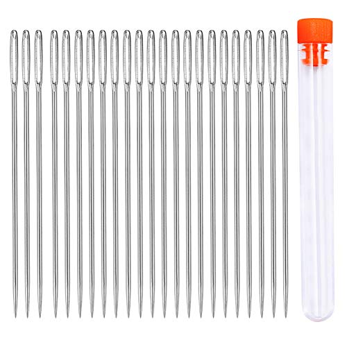 23 Stücke Nähen Nadeln Set, 5cm Große Augen Nadeln, Hand Nähen Nadeln Set für Hand Nähen Handwerk