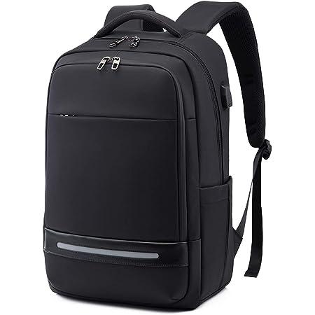 Laptop Backpack,Vodlbov 17 Inch Waterproof Business Travel Work Computer Rucksack Bag with USB Charging Port,Anti-Theft College School Bag
