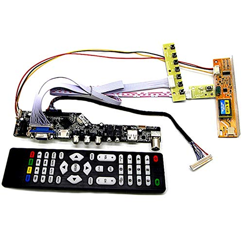 Exanko TV+Hdmi+Vga+AV+USB+Audio TV LCD Driver Board 15,4 Pulgadas Lp154W01 B154Ew08 B154Ew01 Lp154Wx4 1280X800 LCD Controlador LCD Kits DIY