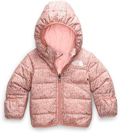 The North Face Infant Reversible Perrito Jacket Pink Clay Confetti Sweater Print 3 6 months product image