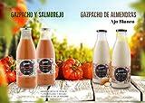 LIVANIA - Pack 2 Gazpachos + 1 Salmorejo + 1 Ajo Blanco Frescos y en Cristal. Convencionales y Ecológicos. Comida sana a Domicilio.