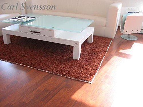 Carl Svensson Design Couchtisch Tisch V-470H Weiß mit Milchglas