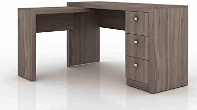 Tecnomobili Reversible Office Desk, Light Brown, 75 x 136 x 113 cm