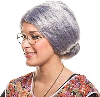 Balinco Großmutter Oma Granny Grandma Grauer Dutt Perücke Verkleidung Party Fasching Kostüm Accessoire