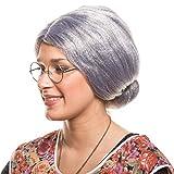Balinco Großmutter Oma Granny Grandma Grauer Dutt Perücke Verkleidung Party Fasching Kostüm...