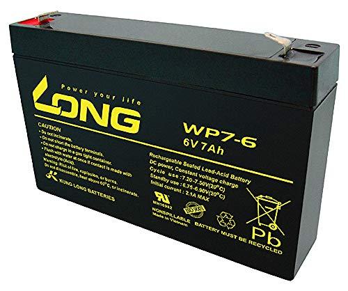 Akku Batterie Long WP7-6 6V 7Ah AGM Blei wie 7,0Ah 7.0Ah 7,2Ah 7,2Ah 8Ah