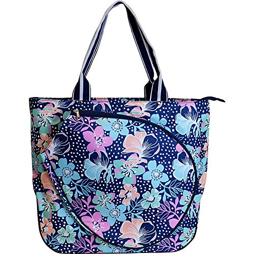 All For Color Tennis Tote (One Size, Midnight Blooms)