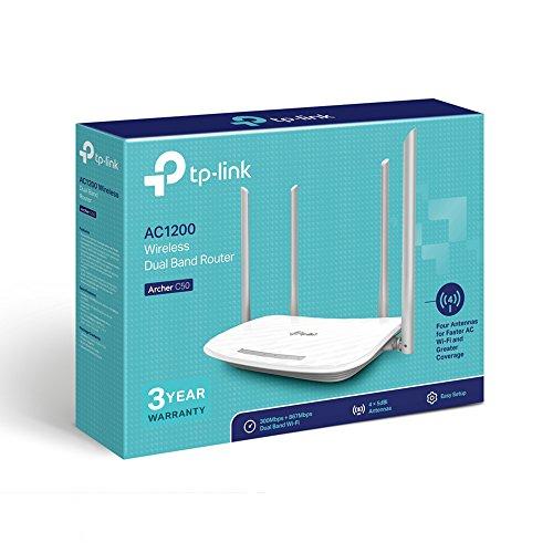 TP-Link ARCHER C50 V4 AC1200 Drahtloser Dualband-Router