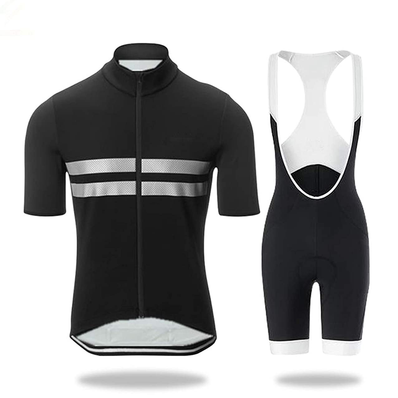 Grist CC Men Cycling Clothing Set, Cycling Jersey + 3D Padded Pants Trousers Breathable Quick-Dry,Outdoor Cycling,XXXXL