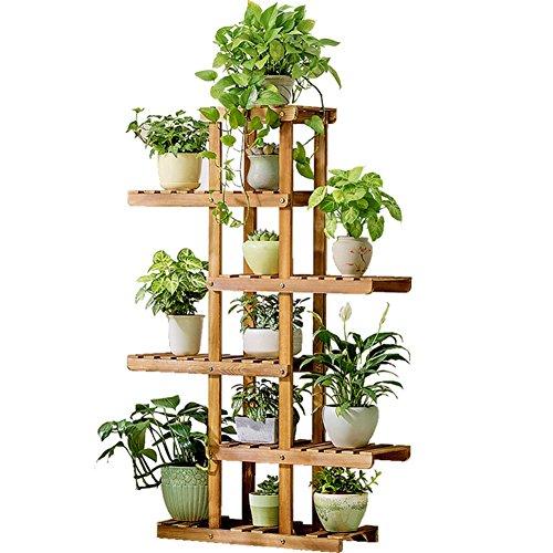 Supports en bois de fleur de salon/support de présentoir de plante de fleur de balcon de plancher de style