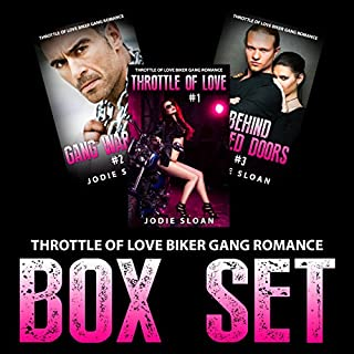 Throttle of Love Biker Gang Romance Box Set audiobook cover art